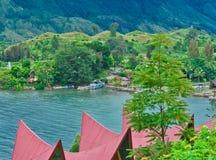 Het Eiland van Samosir op Meer Toba, Sumatra Royalty-vrije Stock Afbeelding