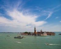 Het eiland van San Giorgio Maggiore, Venetië, Italië Royalty-vrije Stock Afbeeldingen