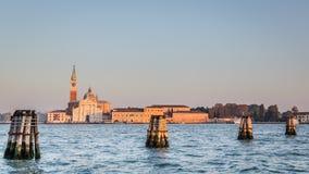 Het eiland van San Giorgio Maggiore, Venetië, Italië Royalty-vrije Stock Foto's
