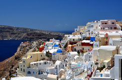 Het Eiland van Santorini stock foto's