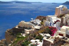 Het eiland van Santorini in Griekenland Royalty-vrije Stock Foto's