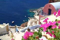 Het eiland van Santorini in Griekenland Royalty-vrije Stock Foto