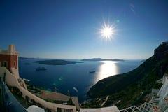 Het eiland van Santorini, Griekenland Stock Afbeeldingen