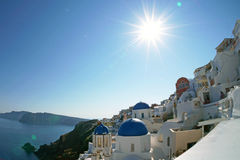 Het eiland van Santorini, Griekenland Stock Fotografie