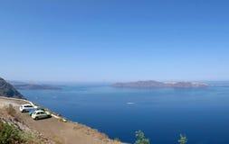 Het eiland van Santorini, Griekenland Stock Foto