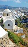 Het eiland van Santorini, stad Fira Stock Foto's