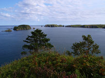 Het eiland van Shikotan (Rusland) Stock Foto