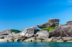 Het eiland van Similan Stock Afbeeldingen