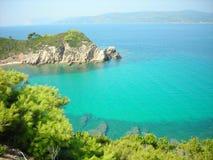 Het eiland van Skiathos, Griekenland stock foto's