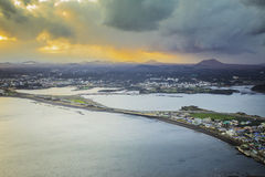 Het Eiland van SONGSAN ILCHULBONG Jeju, Zuid-Korea royalty-vrije stock afbeeldingen