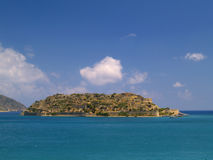 Het eiland van Spinalonga Stock Afbeelding