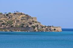 Het eiland van Spinalonga in Kreta, Griekenland Royalty-vrije Stock Foto