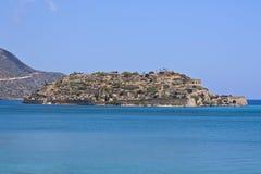 Het eiland van Spinalonga in Kreta, Griekenland Royalty-vrije Stock Foto's