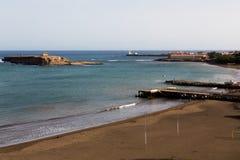 Het eiland van St Mary, Gamboa-strand, vuurtoren Maria Pia Royalty-vrije Stock Fotografie