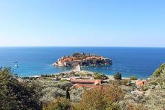 Het eiland van St Stephen in het Adriatische Overzees Stock Afbeelding