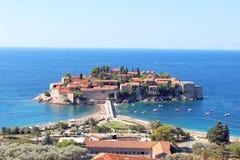 Het eiland van St Stephen in het Adriatische Overzees Royalty-vrije Stock Foto's