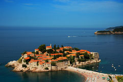 Het eiland van Stefan van Sveti/het eiland van Heilige Stefan Royalty-vrije Stock Fotografie