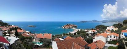 Het eiland van Stefan van Sveti in montenegro Royalty-vrije Stock Fotografie