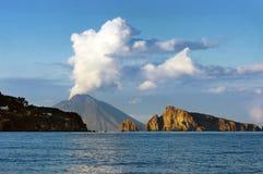 Het eiland van Stromboli Royalty-vrije Stock Foto
