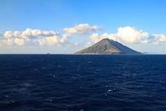 Het eiland van Stromboli Stock Foto