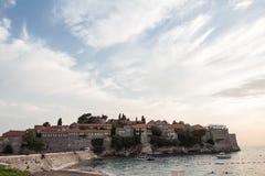 Het eiland van Svetistefan in Budva Royalty-vrije Stock Fotografie