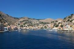 Het eiland van Symi stock foto's