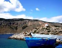 Het eiland van Symi, Griekenland stock foto