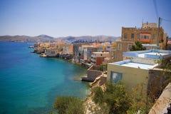 Het eiland van Syros Stock Afbeeldingen