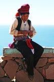 Het eiland van Taquile royalty-vrije stock fotografie