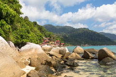 Het eiland van Tioman in Maleisië Royalty-vrije Stock Foto's