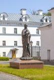 Het eiland van Valaam Beeldhouwwerk van de Valaam-Moeder van God royalty-vrije stock afbeeldingen