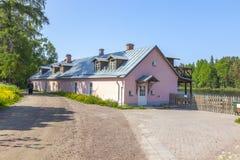 Het eiland van Valaam Economiehotel stock fotografie