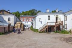 Het eiland van Valaam Grondgebied van het Klooster van spaso-Preobrazhensky Valaam royalty-vrije stock afbeelding