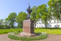 Het eiland van Valaam Monument aan St Andrew de Apostel royalty-vrije stock afbeeldingen