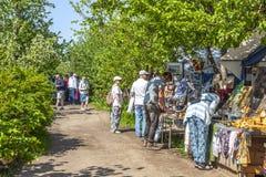 Het eiland van Valaam Steeg in de Oude Tuin royalty-vrije stock fotografie