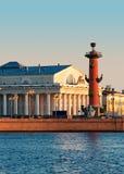 Het eiland van Vasilevsky. Stock Afbeeldingen