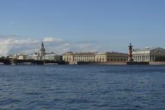 Het eiland van Vasilievsky. Stock Foto