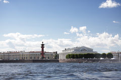 Het eiland van Vasilievsky in St. Petersburg Royalty-vrije Stock Afbeeldingen