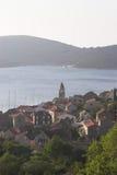 Het eiland van Vis in Kroatië stock afbeeldingen