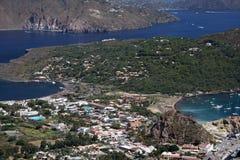 Het eiland van Vulcano Royalty-vrije Stock Afbeeldingen