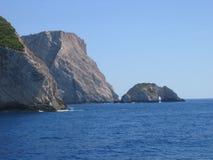 Het eiland van Zante, Griekenland, rotsen stock afbeeldingen