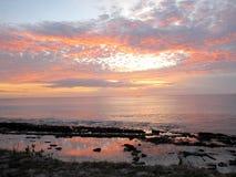 Het eiland van zonsondergangfiji stock foto's