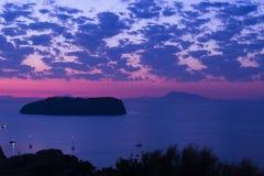 Het eiland van zonsopgangheilige Stephen, mening van Ventotene Lazio Itali? royalty-vrije stock afbeeldingen