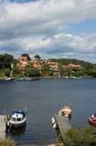 Het Eiland van Zweden Karlskrona met   Stock Foto