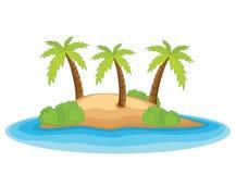 Het eiland vectorillustratie van de palm royalty-vrije illustratie