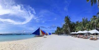 Het eiland wit strand Filippijnen van Boracay Stock Foto
