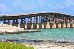 Het eilandbrug van Key West Bahia Honda (kanaal) Stock Fotografie