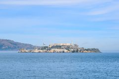 Het Eilandhorizon van close-upalcatraz van San Francisco op Sunny Day royalty-vrije stock foto