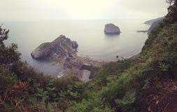 Het eilandje van San Juan de Gaztelugatxe Royalty-vrije Stock Foto's