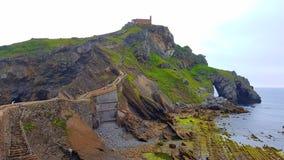Het eilandje van San Juan de Gaztelugatxe Stock Foto